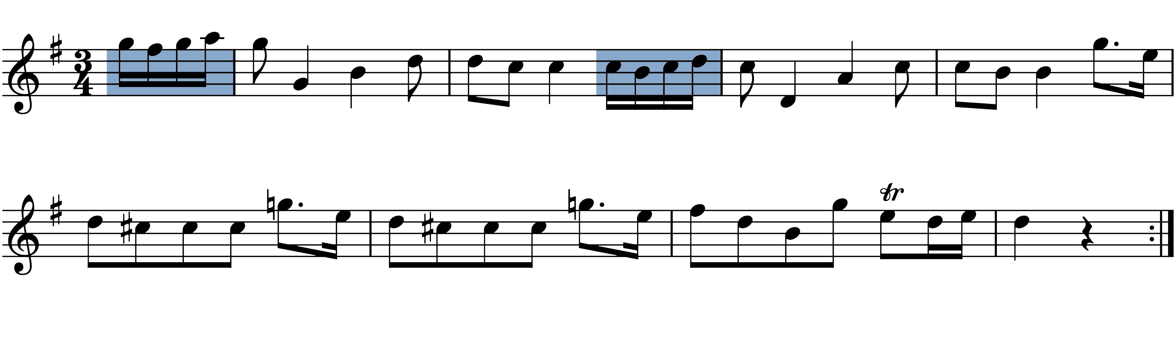 boccherini-minuet melodic figures