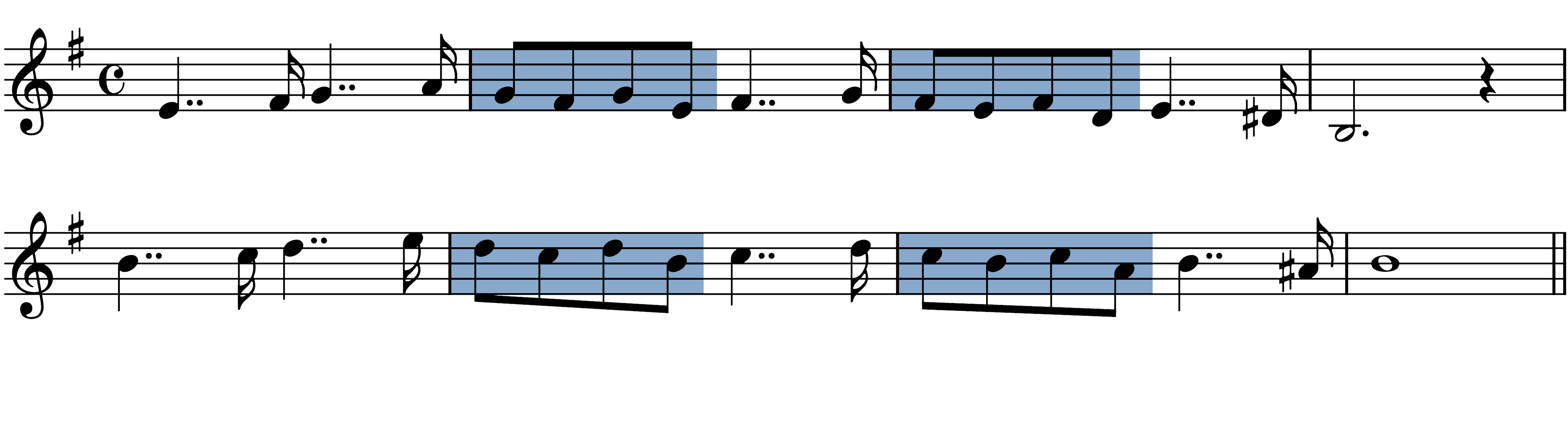 faure-pavane melodic figures