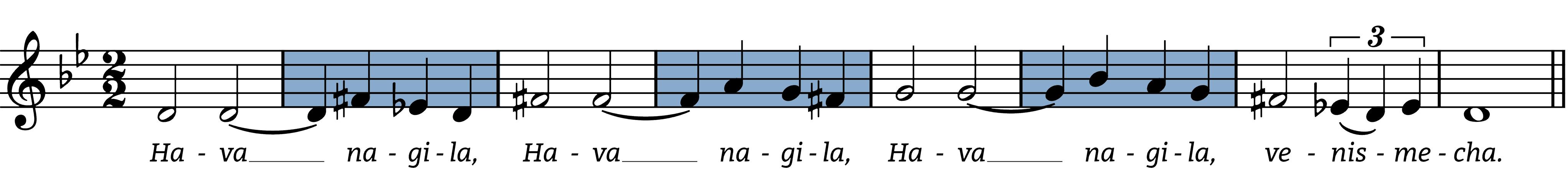 hava-nagila melodic figures
