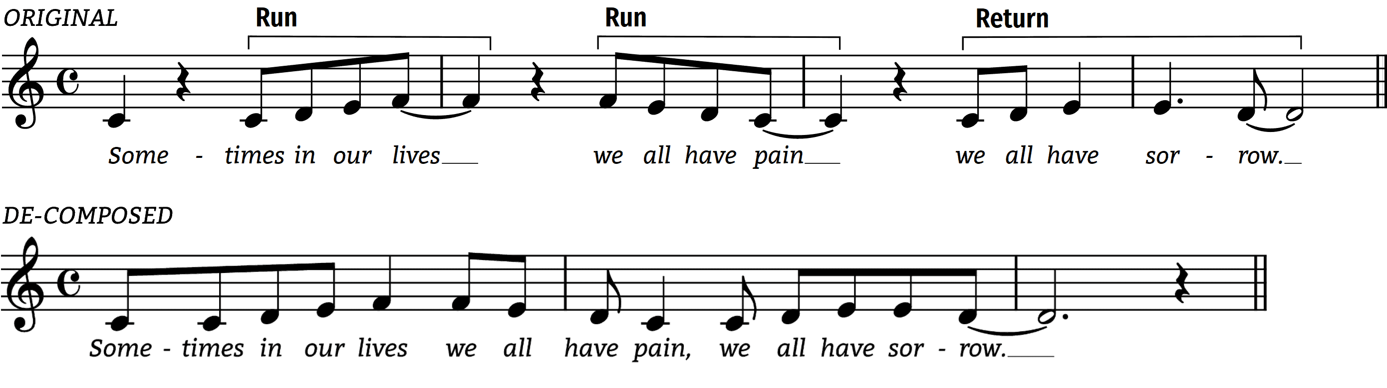lean on me with square rhythm