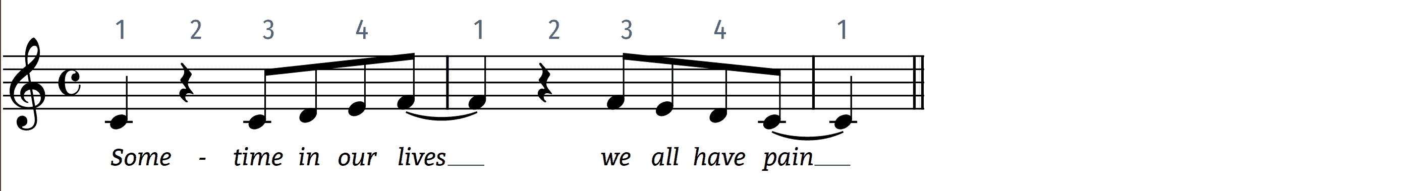 lean on me with the original rhythm