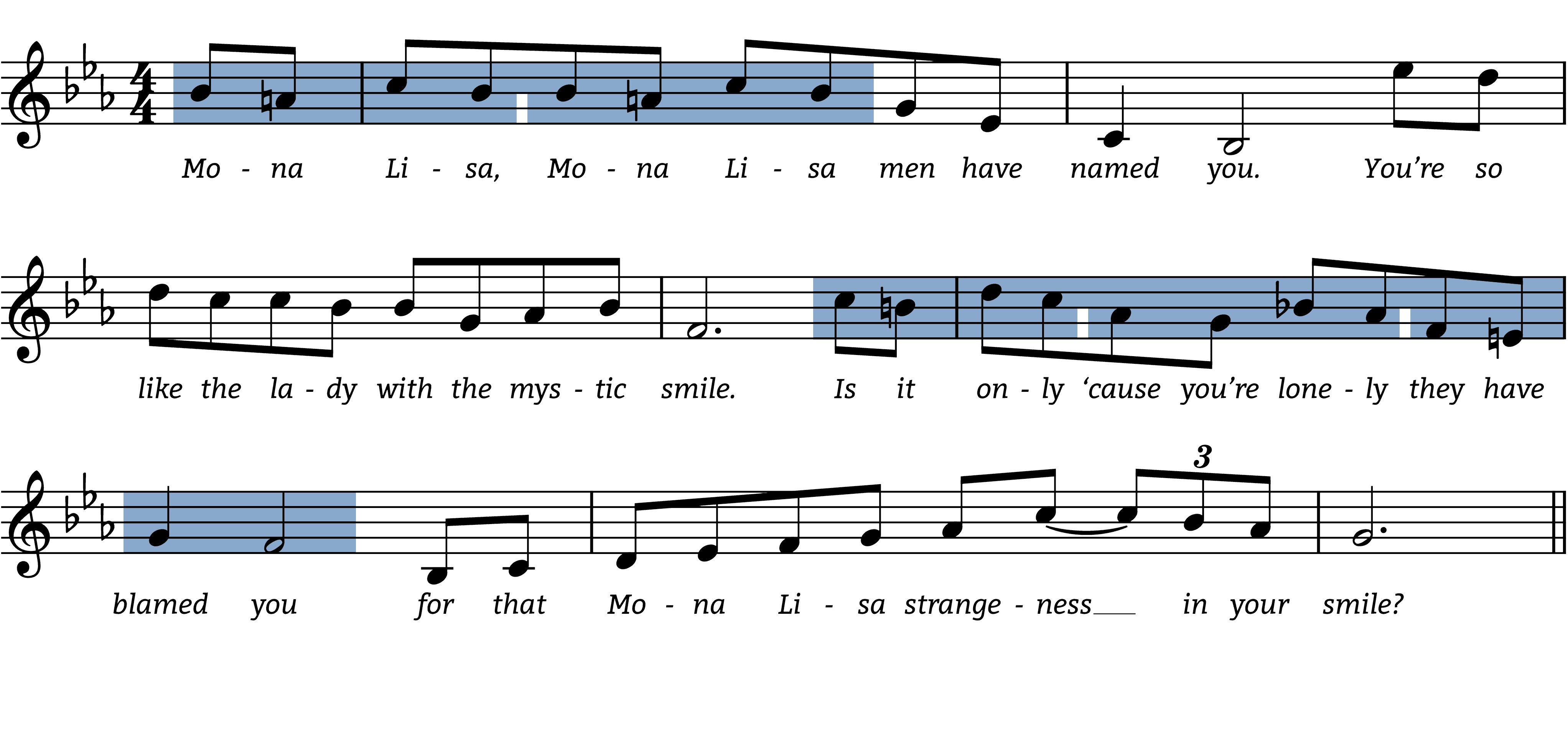 mona-lisa melodic figures