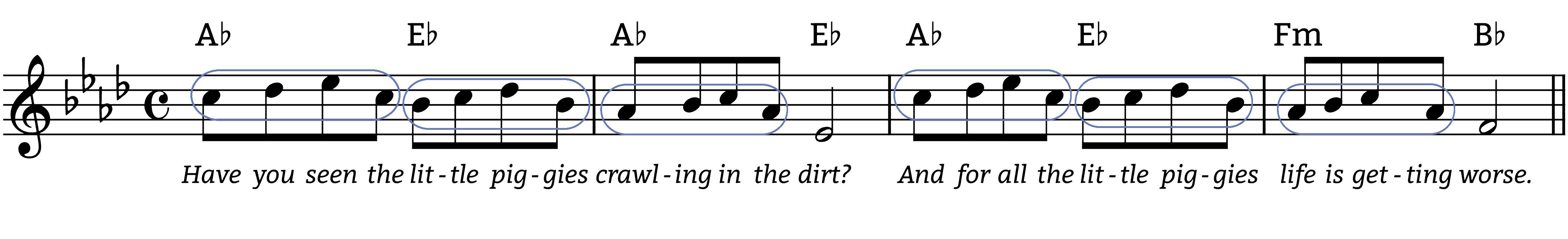 piggies melodic figures