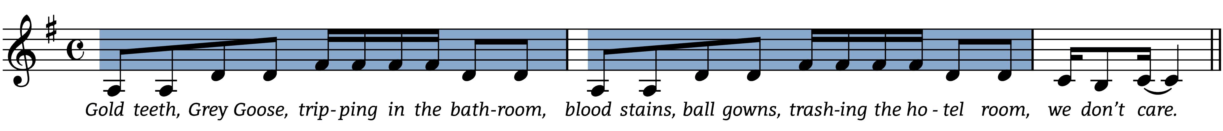 royals arpeggio figures in melody