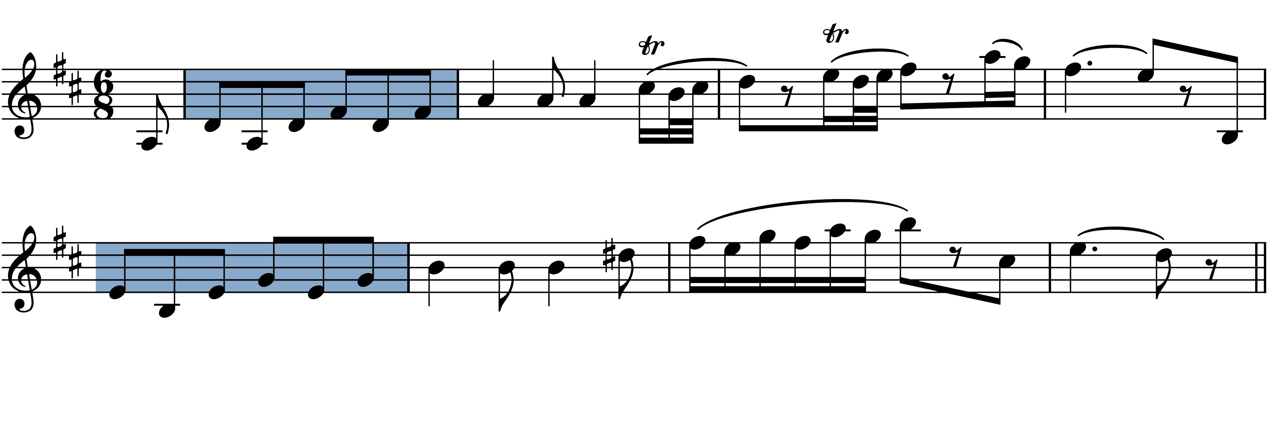 sonata-k576 melodic figures